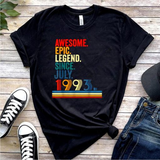 Awesome Epic Legend Since July 1993 28 Year Old retro T Shirt