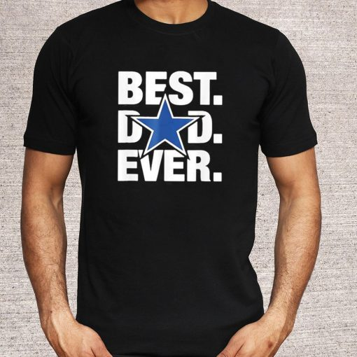 Best Dad Ever Star Football Love Fathers Day US 2021 T Shirt