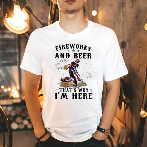 Fireworks beer that's why I'm here shirt 3