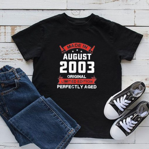 Vintage August Shirt 2003 Birthday 16 Years Old T-Shirt 5