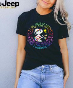 And I think to Myself What a Wonderful World Hippie Snoopy Shirt