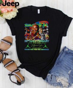 Space Jam 25th Anniversary 1996 2021 Thank You For The Memories Signature T shirt