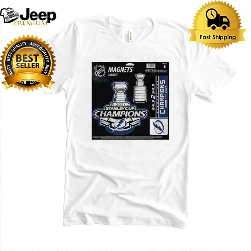 Tampa Bay Lightning magnets aimants 2021 Stanley Cup Champions t shirt 5