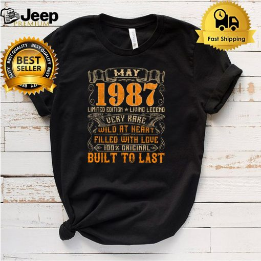Vintage 1987 May Shirt 34 Years Old 34th Birthday Gifts T Shirt 5