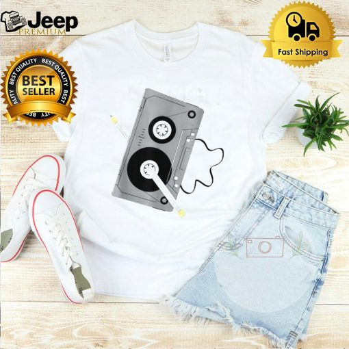 Vintage Music 80s 90s A Cassette Tape With Pencil Winding Up Shirt