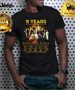 11 years 2010 2021 Downton Abbey signatures shirt