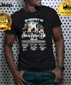 In memory of Human Brothers Band 1969 2014 signatures shirt