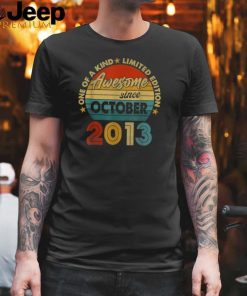 One Of A Kind Limited Edition Awesome Since october 2013 Vintage T Shirt