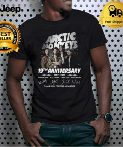 Arctic Monkeys 19th Anniversary 2002 2021 Signatures Thank You For The Memories Shirt