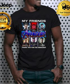 Avengers my friends thank you for the memories shirt