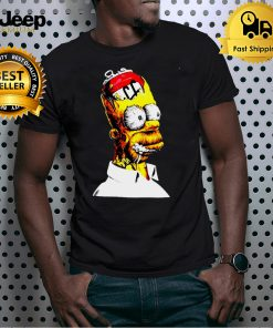 Homer Simpson With Beer 2D Multicolor T shirt