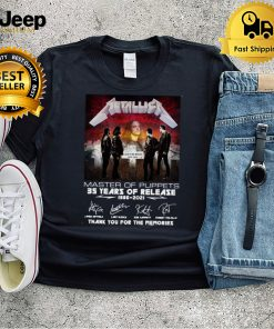 Metallica Master Of Puppets 35 Years Of Release 1986 2021 Signature Thank You For The Memories T shirt
