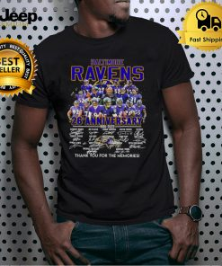 baltimore ravens 26 th anniversary 1996 2021 thank you for the memories shirt