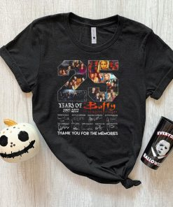 25 years of 1997 2022 buffy the vampire slayer thank you for the memories shirt